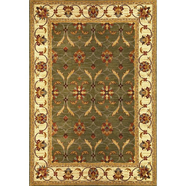 Antwerp Green/Ivory Agra Rug by Charlton Home