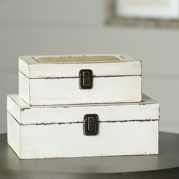 Brittany 2 Piece Decorative Box Set by Lark Manor