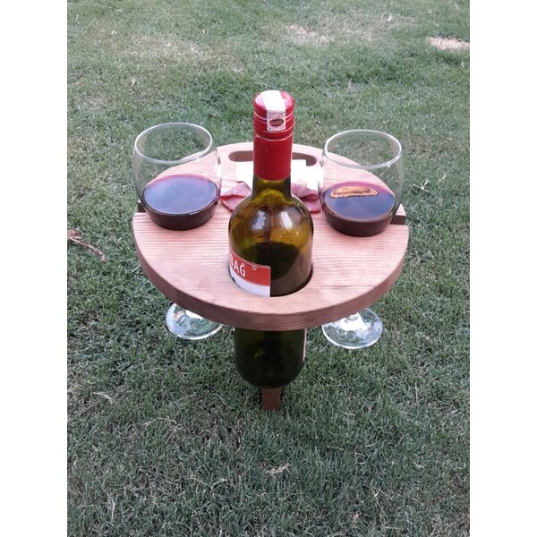 Essence Portable Outdoor Folding Chestnut Bistro Table by Freeport Park