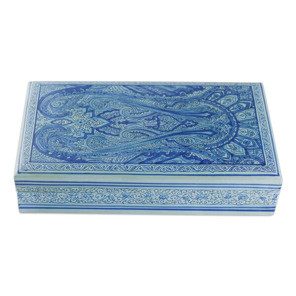 Terrace Sapphire Paisley Decorative Box by Bloomsbury Market