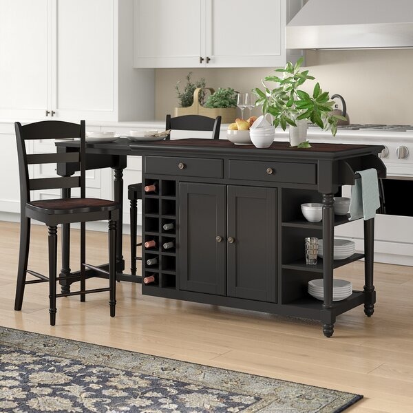Kidd 3 Piece Kitchen Island Set By Birch Lane™ Heritage 2019 ...