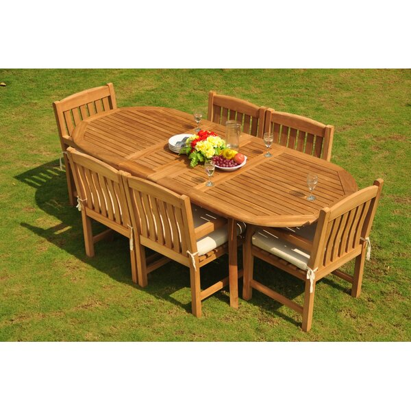 Dunsmuir Luxurious 7 Piece Teak Dining Set by Rosecliff Heights
