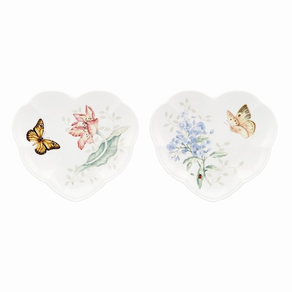 Butterfly Meadow Heart Party Dinner Plate Set (Set of 2) by Lenox