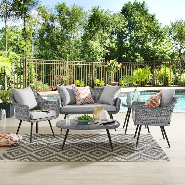Thayne 5 Piece Rattan Sofa Seating Group by Ivy Bronx