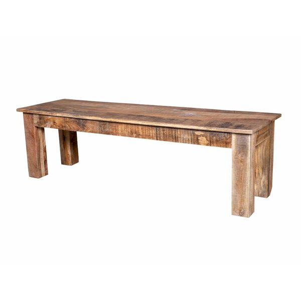 Karam Natural Raw Dining Wood Bench by Bloomsbury Market Bloomsbury Market