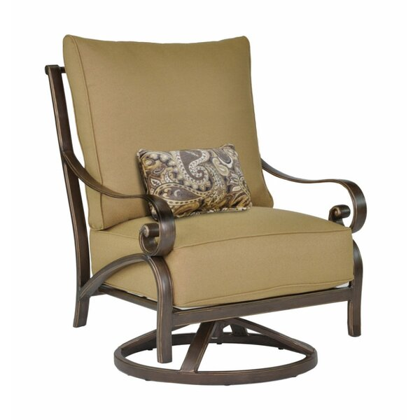 Veracruz High Back Swivel Rocking Chair with Cushion by Leona