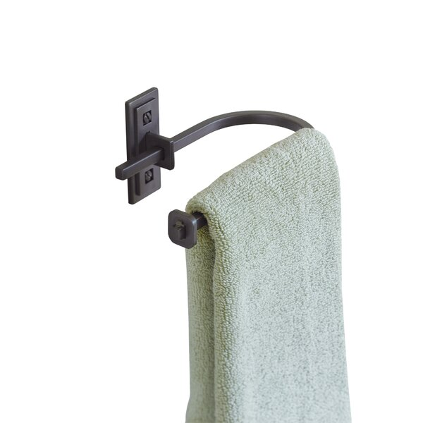Metra Wall Mounted Curved Hand Holder Towel Ring by Hubbardton Forge