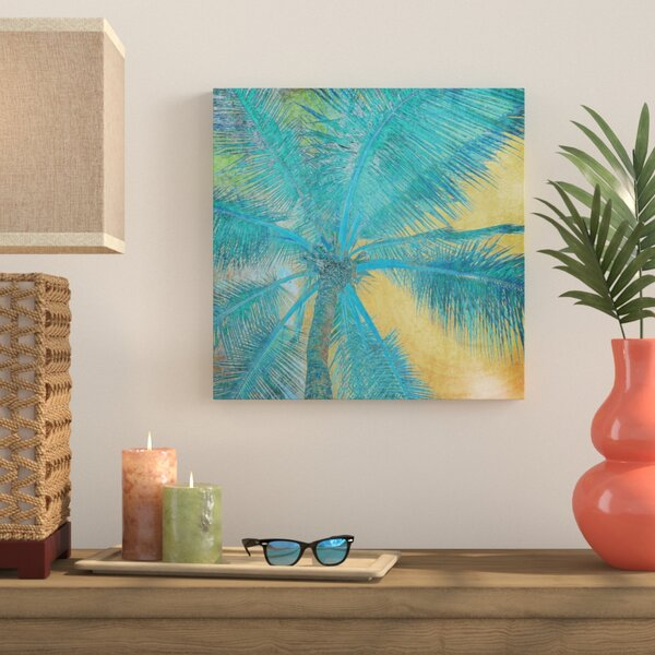 Palm Tree Sunset II Painting Print on Wrapped Canvas by Bay Isle Home