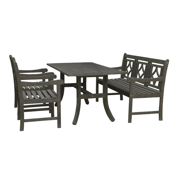 Shelbie 4 Piece Patio Dining Set by Sol 72 Outdoor