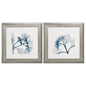 Hydrangeas Pos 2 Piece Framed Graphic Art Set by Propac Images