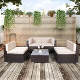 Cullan 5 Piece Sectional Seating Group with Cushions by Ebern Designs