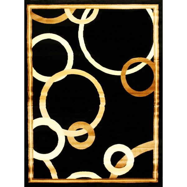 Elif/Passion Black/Beige Area Rug by Bekmez International Inc.