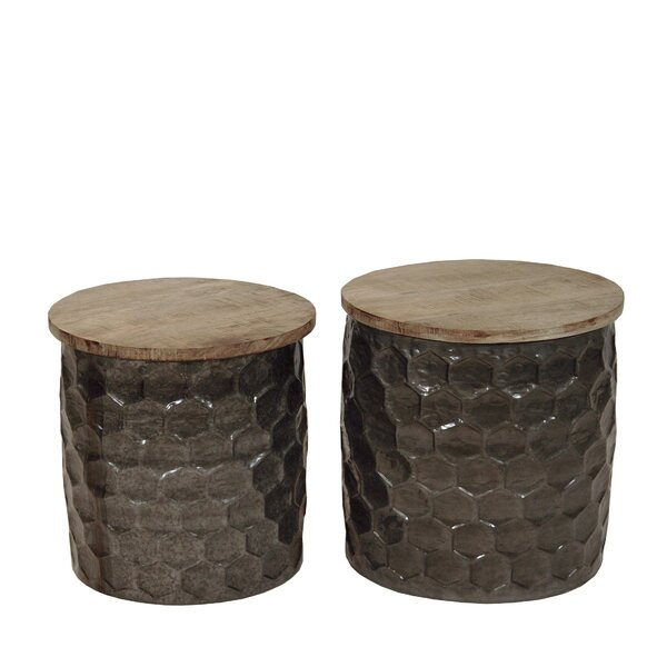 Uhrichsville Drum Nesting Tables By Union Rustic