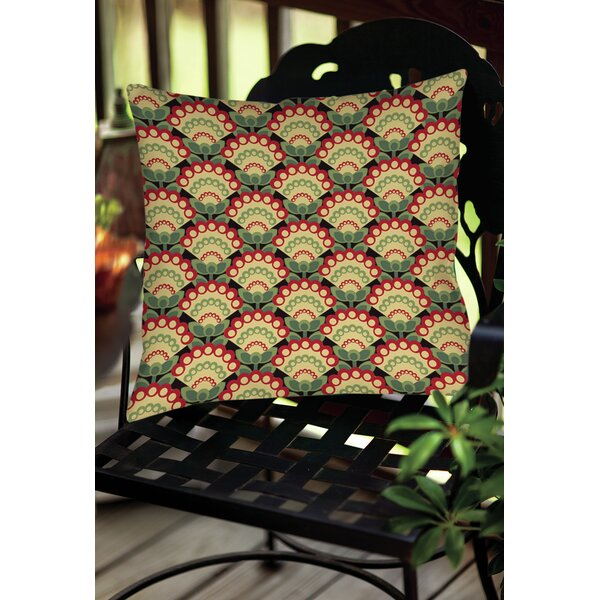 Tropical Breeze Patterns 35 Indoor/Outdoor Throw Pillow by Manual Woodworkers & Weavers