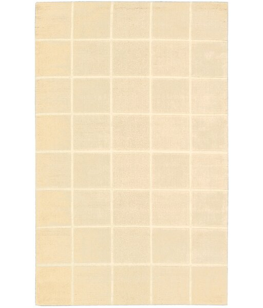 Aspasia Geometric Hand-Tufted Ivory Area Rug by Ebern Designs