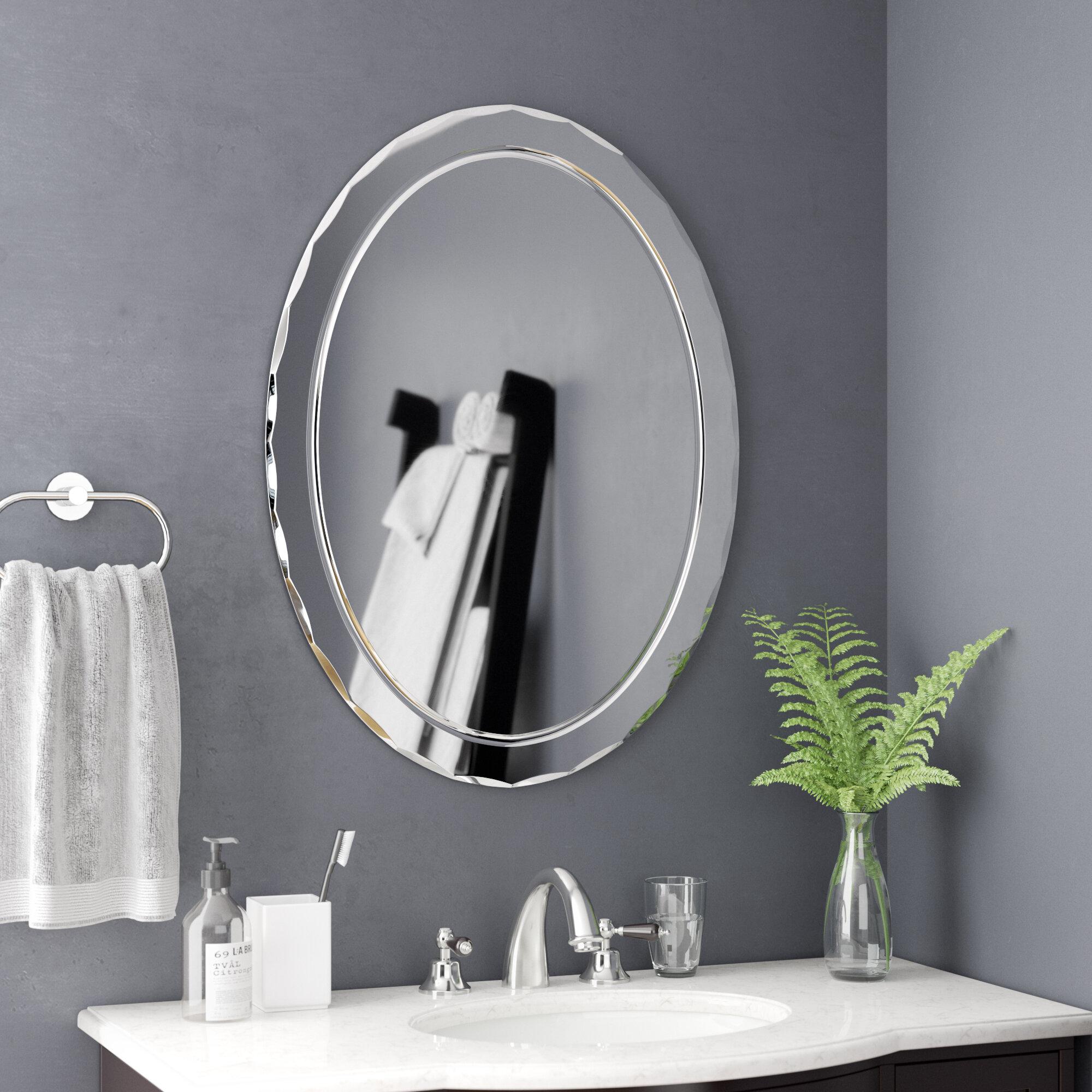 Ivy Bronx Modern Contemporary Beveled Frameless Wall Mirror Reviews Wayfair