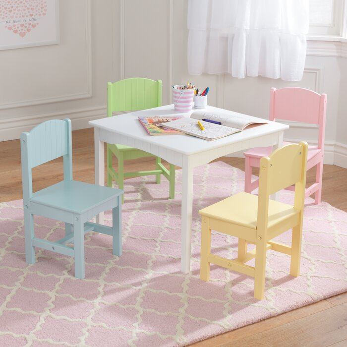 Astonishing Nantucket Kids 5 Piece Writing Table Chair Set Short Links Chair Design For Home Short Linksinfo
