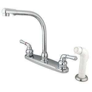 Kingston Brass Magellan High Arch Kitchen Faucet with Sprayer