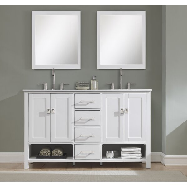 Pinedale 60 Double Bathroom Vanity Set by Rosecliff Heights