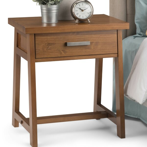Sawhorse 1 Drawer Nightstand by Simpli Home