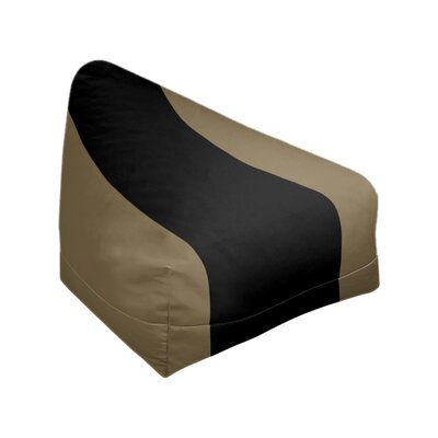 "Classic Bean Bag East Urban Home Fabric: Metallic Gold/Black, Size: 30"" H x 27"" W x 27"" D"