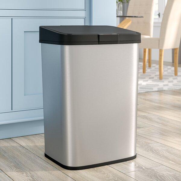 Steel 15.9 Gallon Motion Sensor Trash Can by Rebri
