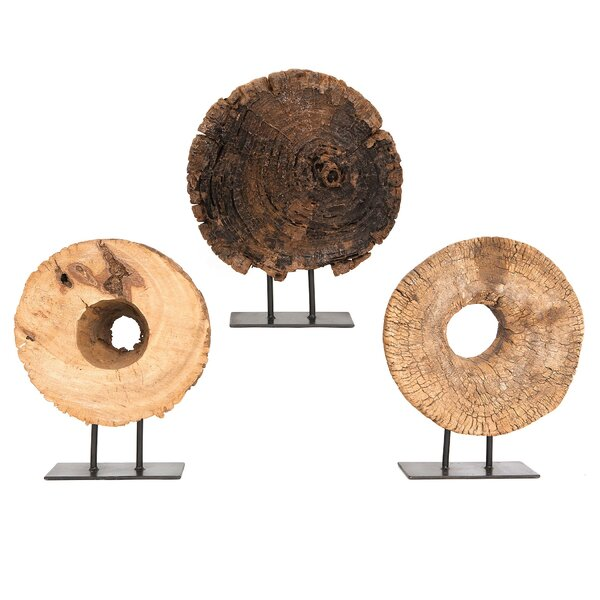 Wood Half Ukhli Wheel on Stand by Studio A Home