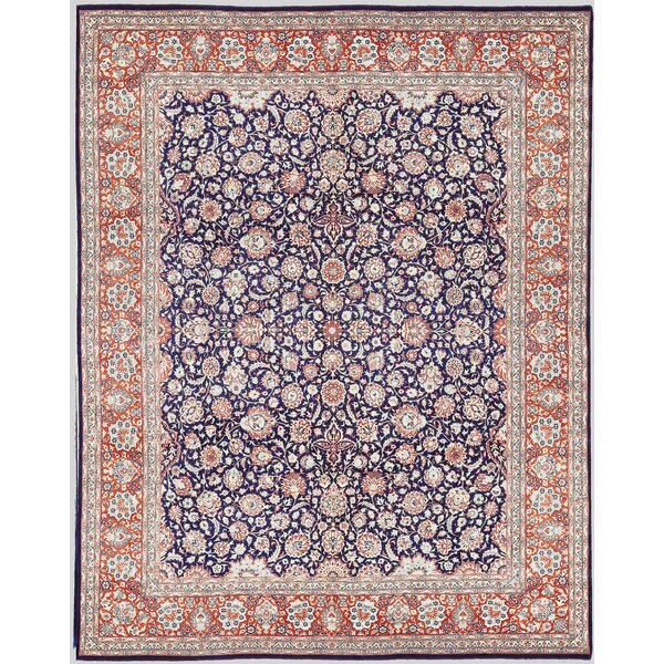 One-of-a-Kind Hand-Knotted Wool Navy/Orange Area Rug by Bokara Rug Co., Inc.
