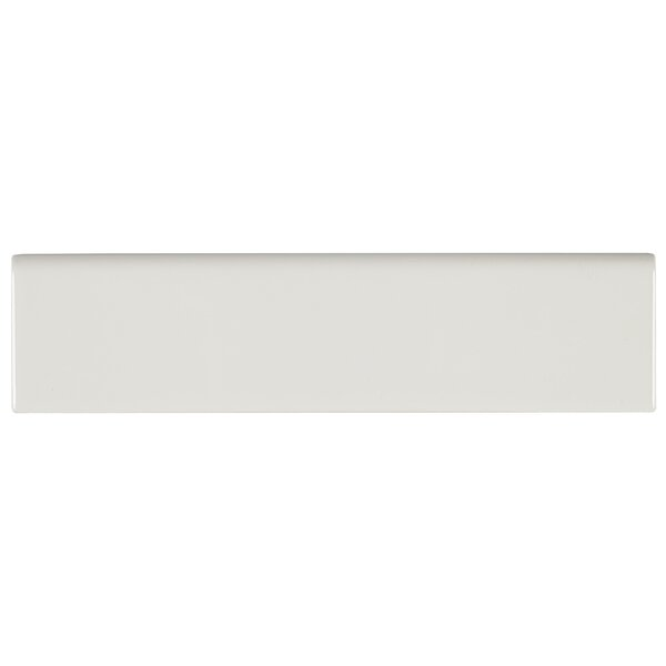 8.5 x 2.13 Ceramic Bullnose Tile Trim in Biscuit b