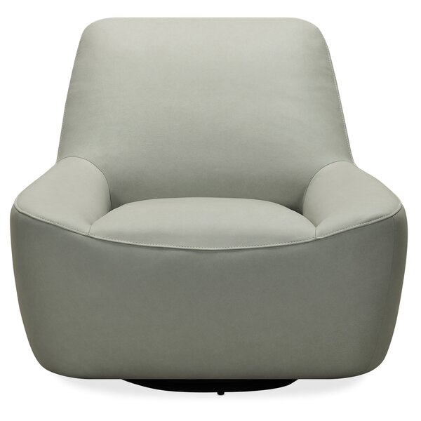 Maneuver Leather Swivel Barrel Chair By Hooker Furniture