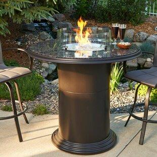 Bar height fire pit table wayfair colonial fiberglass gas fire pit table watchthetrailerfo