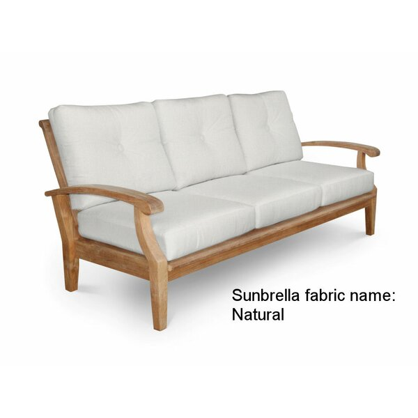 Cayman Teak Patio Sofa with Sunbrella Cushions by Douglas Nance