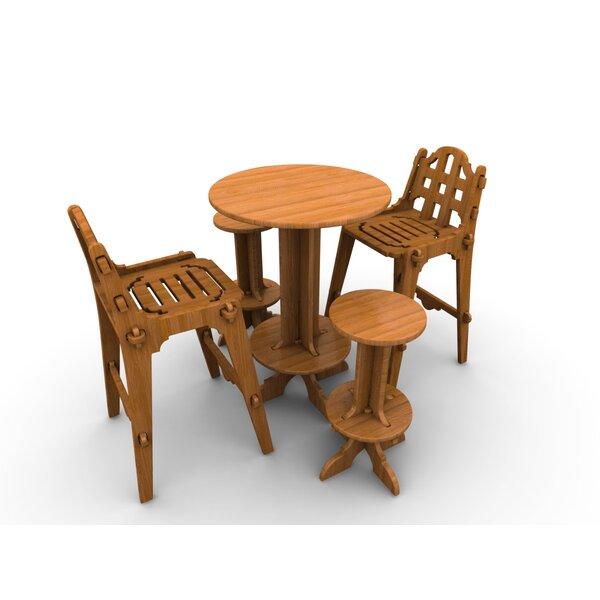 Palladian Line 5 Piece Teak Bar Height Dining Set by Wedgewood Furniture