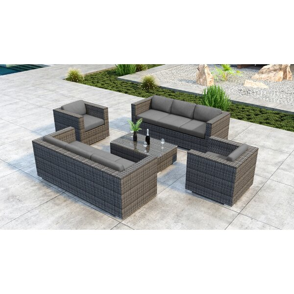 Gilleland 5 Piece Sofa Set with Sunbrella Cushion by Orren Ellis