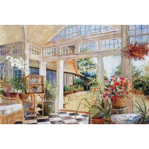 Sunroom  by Carney Painting Print on Wrapped Canvas by Portfolio Canvas Decor
