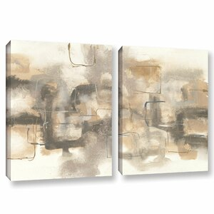 Platinum Neutrals I 2 Piece Painting Print on Wrapped Canvas Set by Latitude Run