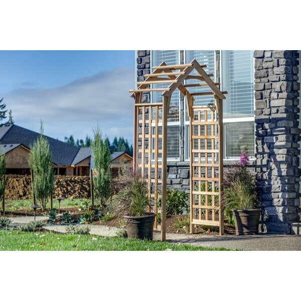 Gable Wood Arbor by Rustic Natural Cedar Furniture