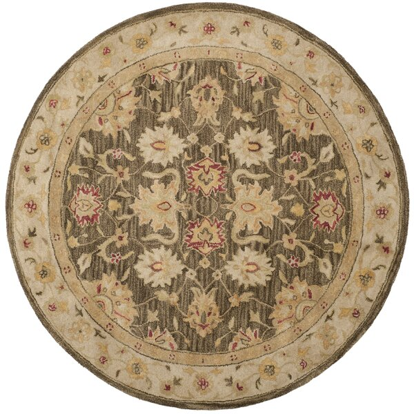 Tinley Hand-Tufted Wool Olive Gray Area Rug by Alcott Hill