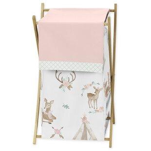 Look for Deer Floral Laundry Hamper BySweet Jojo Designs