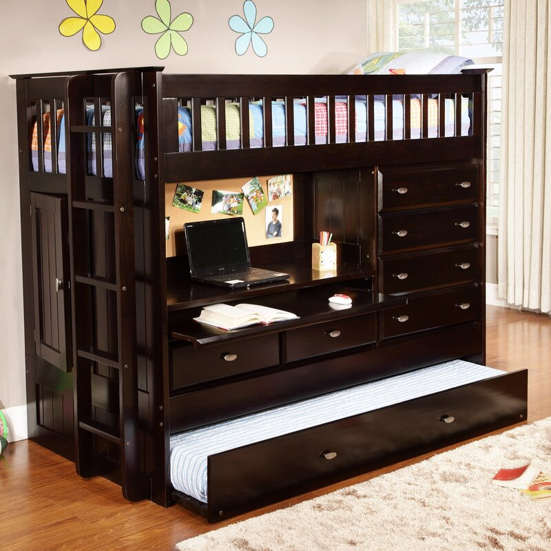 Viv Rae Kaitlyn Twin Loft Bed With Trundle And Storage