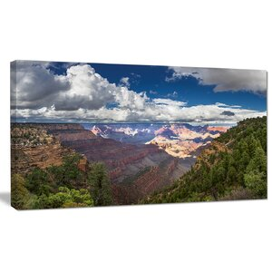 'US Grand Canyon in Colorado River' Photographic Print on Wrapped Canvas by Design Art