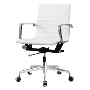White Office Chairs Youll Love Wayfair - White leather office chairs