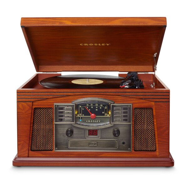 Lancaster Entertainment Center with Bluetooth by Crosley Electronics