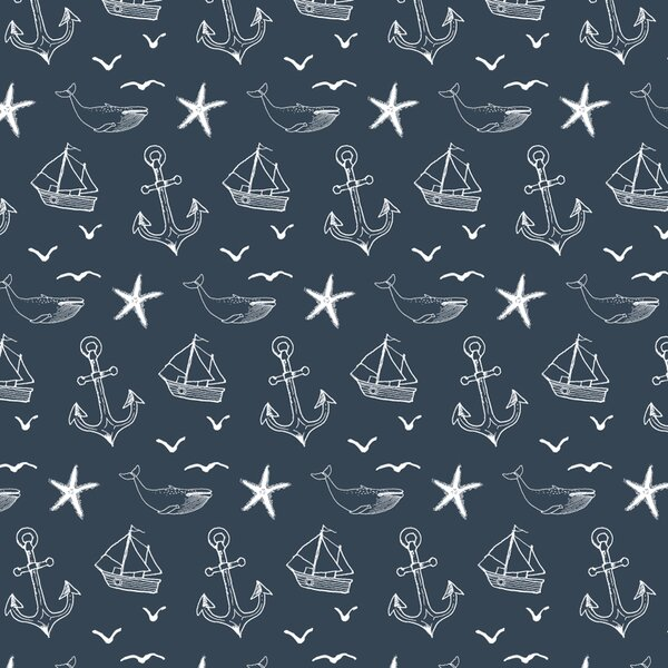 Nautical Seas Removable Wallpaper Tile by Wallums Wall Decor