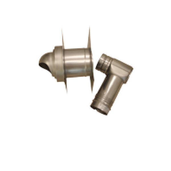 Single-Wall with Horizontal Termination Vent Kit for Thick Wall by Noritz