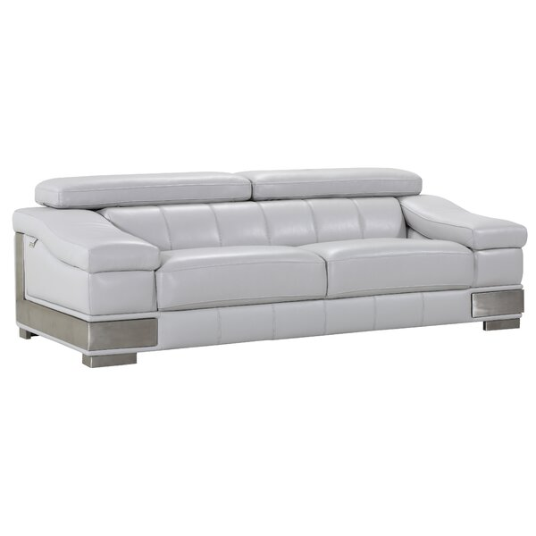 Chic Style Hawkesbury Common Living Room Leather Sofa by Orren Ellis by Orren Ellis