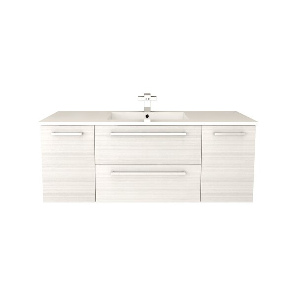 Silhouette 48 Wall-Mounted Single Bathroom Vanity Set by Cutler Kitchen & Bath