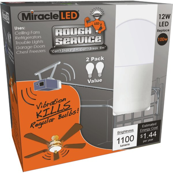 12W E26/Medium (Standard) LED Light Bulb (Set of 2) by Miracle LED