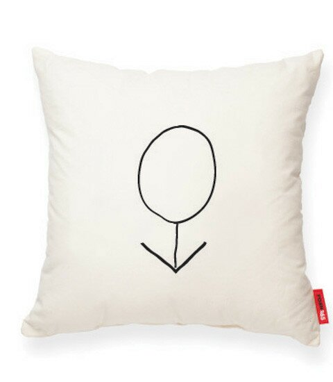 Expressive Male Decorative Linen Throw Pillow by Posh365