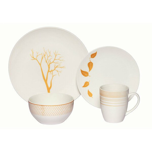 Chance Nature 16 Piece Porcelain Coupe Dinnerware Set (Set of 4) by Red Barrel Studio